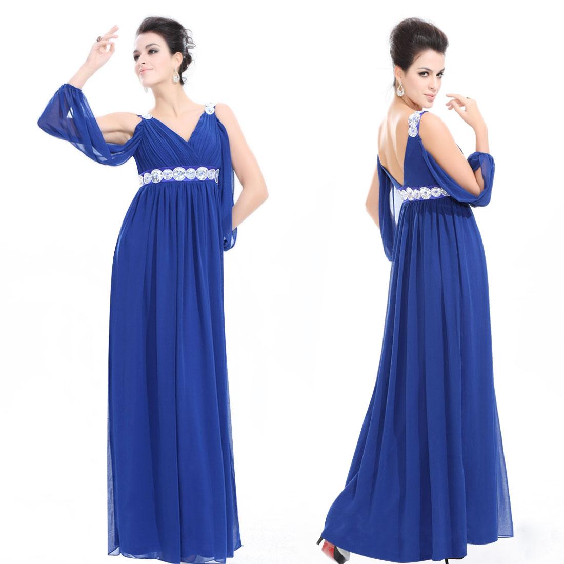 Синее платье вечернее фото.