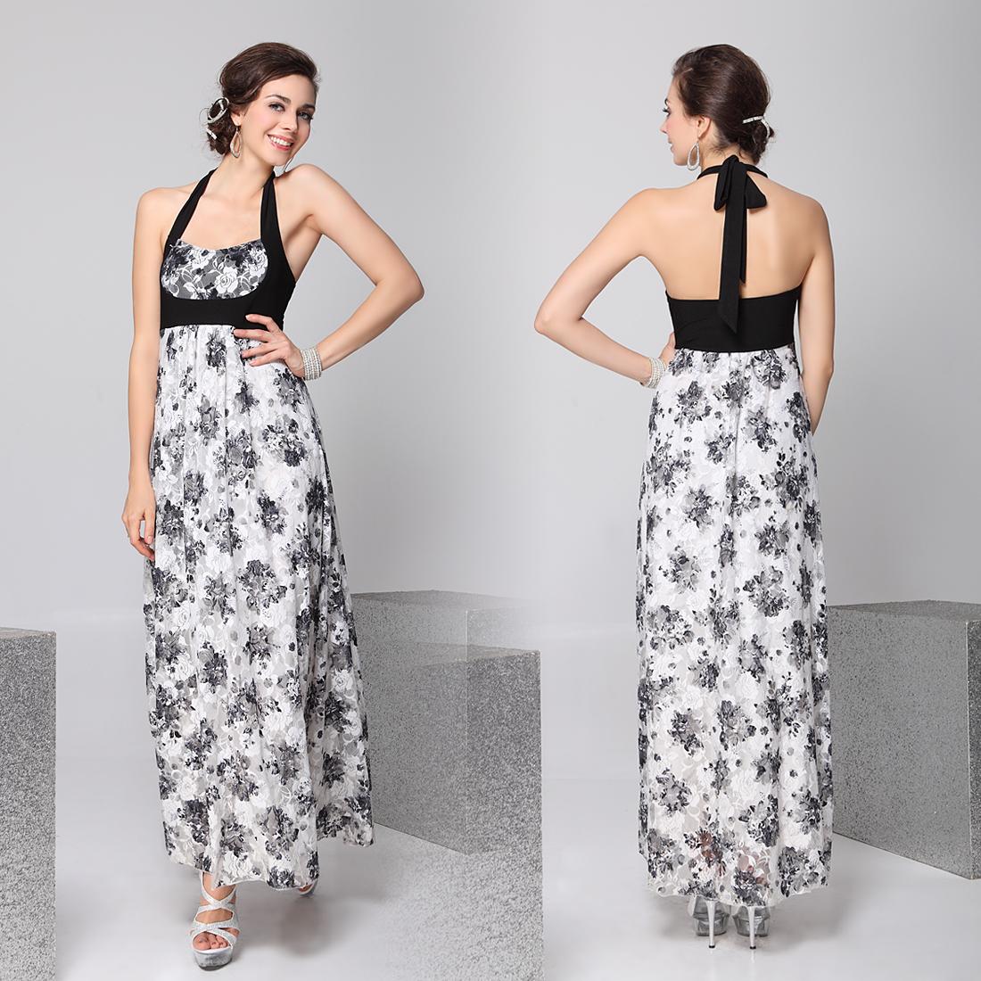 Кружевное платье с цветочным принтом - Dress4you - платья вечерние...