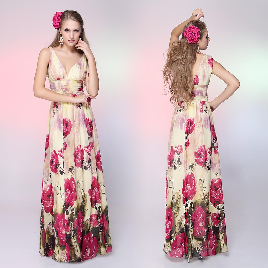 Вечерние платья в цветочек 9